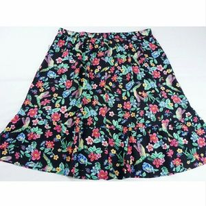 Old Navy Women's XL Floral Bird Midi Skirt NWT